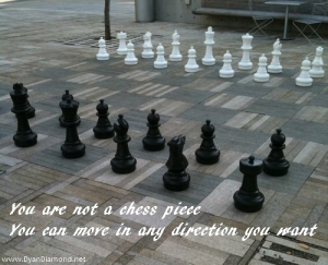 Move in the direction you want